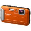 Lumix Cámara Compacta TS30 Resistente al Agua a Prueba de Impactos y Congelación. Color Naranja