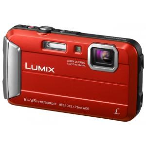 Lumix Cámara Compacta TS30 Resistente al Agua a Prueba de Impactos y Congelación. Color Rojo