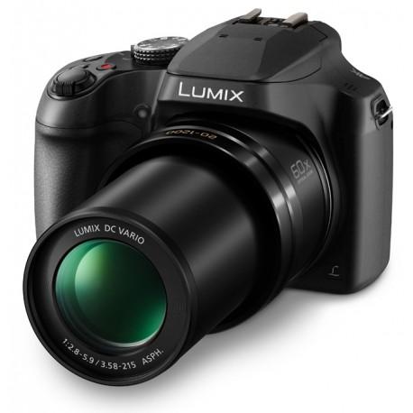 Lumix Cámara Compacta Panasonic FZ80 Lente 20-1200mm y Funciones 4K