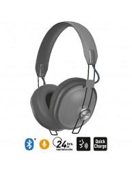 Audífonos Bluetooth 24 Hrs Reproducción Estilo Retro HTX80B Gris