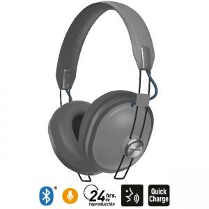 Audífonos Bluetooth Estilo Retro HTX80B Gris