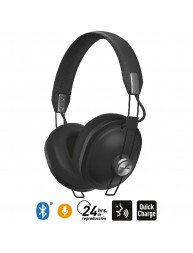 Audífonos Bluetooth 24 Hrs Reproducción Estilo Retro HTX80B Negro