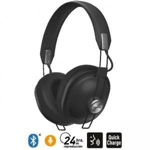 Audífonos Bluetooth Estilo Retro HTX80B Negro
