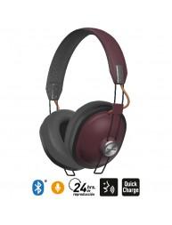 Audífonos Bluetooth 24 Hrs Reproducción Estilo Retro HTX80B Guinda