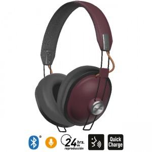 Audífonos Bluetooth Estilo Retro HTX80B Guinda