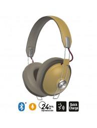 Audífonos Bluetooth 24 Hrs Reproducción Estilo Retro HTX80B Ocre