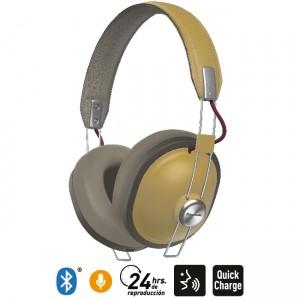 Audífonos Bluetooth Estilo Retro HTX80B Ocre