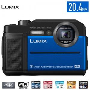 Cámara Compacta Todo Terreno 4K 20.4 Mp TS7 Azul Lumix