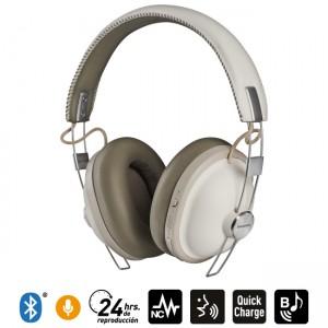 Audífonos Bluetooth Noise Cancelling HTX90 Blanco