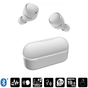 Auriculares Bluetooth con Noise Cancelling True Wireless S500 color blanco