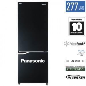 a. Refrigeradora Bottom Freezer BV320 277L Inverter Color Negro Espejado